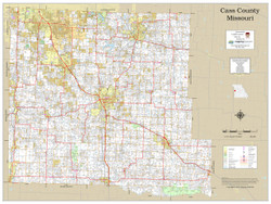 Cass County Missouri 2019 Wall Map