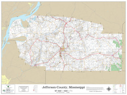 Jefferson County Mississippi 2019 Wall Map