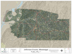 Jefferson County Mississippi 2019 Aerial Wall Map