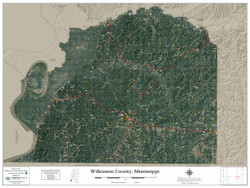 Wilkinson County Mississippi 2019 Aerial Wall Map