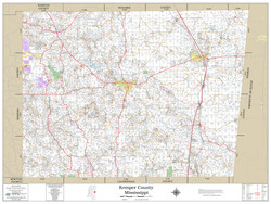 Kemper County Mississippi 2019 Wall Map