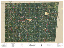 Kemper County Mississippi 2019 Aerial Wall Map