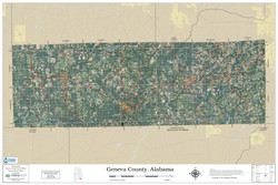 Geneva County Alabama 2019 Aerial Wall Map
