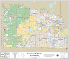 Florence County Wisconsin 2021 Wall Map