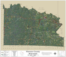 Florence County Wisconsin 2021 Aerial Wall Map