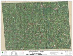 Susquehanna County Arkansas 2019 Aerial Wall Map