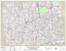 Susquehanna County Pennsylvania 2019 Wall Map