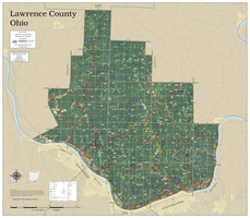 Lawrence County Ohio 2019 Aerial Wall Map