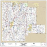 Fayette County Alabama 2019 Wall Map