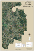 Leflore County Mississippi 2019 Aerial Wall Map