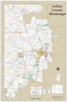 Leflore County Mississippi 2019 Wall Map