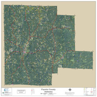 Fayette County Alabama 2019 Aerial Wall Map