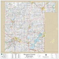 Waupaca County Wisconsin 2019 Wall Map