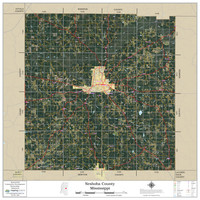 Neshoba County Mississippi 2019 Aerial Wall Map