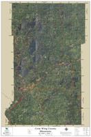 Crow Wing County Minnesota 2021 Aerial Wall Map