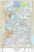 Crow Wing County Minnesota 2021 Wall Map