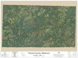 Ozark County Missouri 2019 Aerial Wall Map