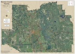 Marion County Florida 2019 Aerial Wall Map