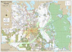 Marion County Florida 2019 Wall Map