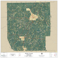 Butler County Alabama 2019 Aerial Wall Map