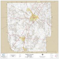 Butler County Alabama 2019 Wall Map