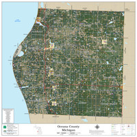 Oceana County Michigan 2020 Aerial Wall Map