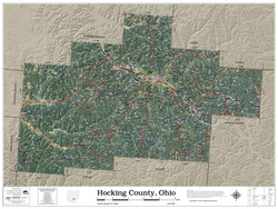Hocking County Ohio 2019 Aerial Wall Map