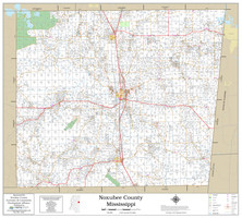 Noxubee County Mississippi 2019 Wall Map
