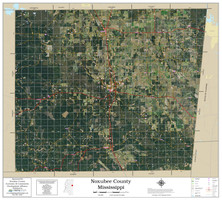 Noxubee County Mississippi 2019 Aerial Wall Map
