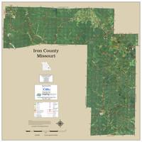 Iron County Missouri 2019 Aerial Wall Map