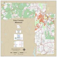 Iron County Missouri 2019 Wall Map