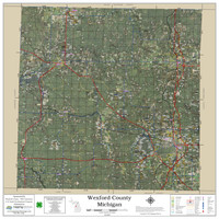 Wexford County Michigan 2019 Aerial Wall Map