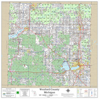 Wexford County Michigan 2019 Wall Map