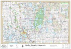 Becker County Minnesota 2020 Wall Map