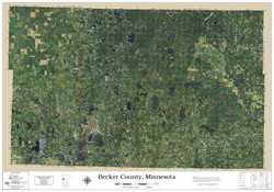 Becker County Minnesota 2020 Aerial Wall Map