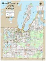 Grand Traverse County Michigan 2019 Wall Map