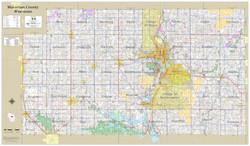 Marathon County Wisconsin 2021 Wall Map