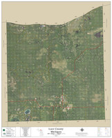 Luce County Michigan 2019 Aerial Wall Map
