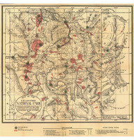 Yellowstone National Park 1881 Map