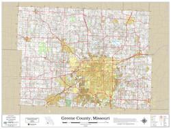 Greene County Missouri 2019 Wall Map