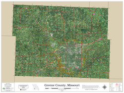 Greene County Missouri 2019 Aerial Wall Map