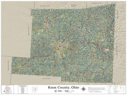 Knox County Ohio 2020 Aerial Wall Map