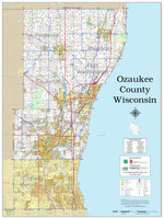 Ozaukee County Wisconsin 2020 Wall Map