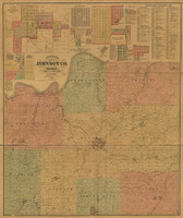Johnson County,  Kansas 1886 Map