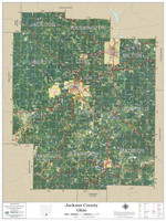 Jackson County Ohio 2020 Aerial Wall Map