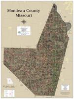 Moniteau County Missouri 2020 Aerial Wall Map