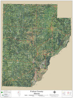 Fulton County Illinois 2020 Aerial Wall Map