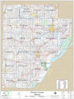 Fulton County Illinois 2020 Wall Map