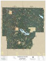 Claiborne Parish Louisiana 2019 Aerial Wall Map