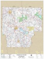 Claiborne Parish Louisiana 2019 Wall Map